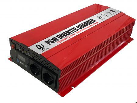 2000W LCD PURE SINE WAVE POWER INVERTER 220V mit LADEGERÄT 12V30A oder 24V15A - PSW Wechselrichter-Ladegerät2000W