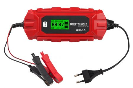 IP65 4A12V LCD BATTERY CHARGER - WBL IP65 4A12V Smart Battery Charger