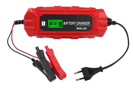 IP65 6A12V LCD BATTERY CHARGER - WBL IP65 6A12V Smart Battery Charger