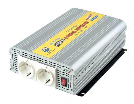 INVERSOR DE POTENCIA DE ONDA SINusoidal MODIFICADA DE 1000W 12V DC a 110V / 220V AC - Inversor de energía de onda sinusoidal modificada 1000W