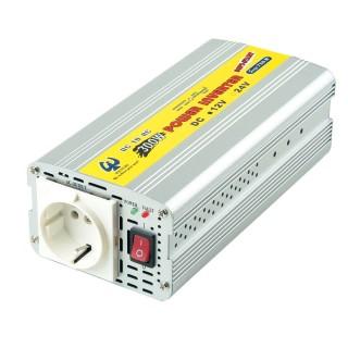 INVERSOR DE POTENCIA DE ONDA SINusoidal MODIFICADA 300W 12V DC a 110V / 220V AC - Inversor de energía de onda sinusoidal modificada 300W