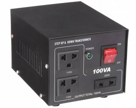 110V / 220VACから220V / 110VACトランス-100VA - 聞祺100VAステップアップおよびステップダウン110V-220Vから220V-110Vへの電圧安定器コンバーター