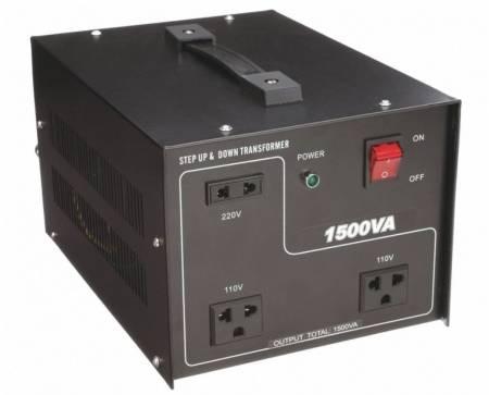 110V / 220VACから220V / 110VACトランス-1500VA - 聞祺1500VAの昇圧および降圧110V-220Vから220V-110Vへの電圧安定器コンバータ