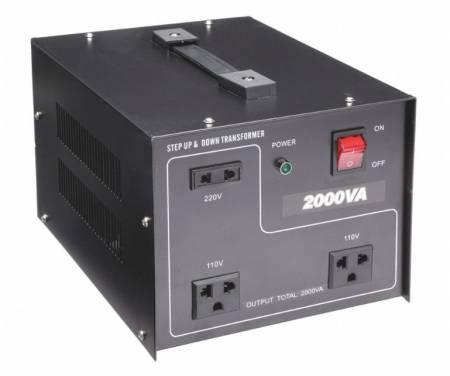 110V / 220VACから220V / 110VACトランス-2000VA - 聞祺2000VAステップアップおよびステップダウン110V-220Vから220V-110Vへの電圧安定器コンバーター