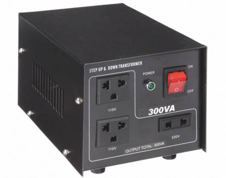 110V / 220VACから220V / 110VACトランス-300VA - 聞祺300VAステップアップおよびステップダウン110V-220Vから220V-110Vへの電圧安定器コンバーター