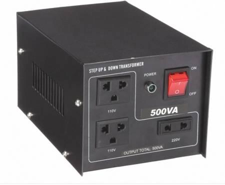110V / 220VACから220V / 110VACトランス-500VA - 聞祺500VAステップアップおよびステップダウン110V-220Vから220V-110Vへの電圧安定器コンバーター