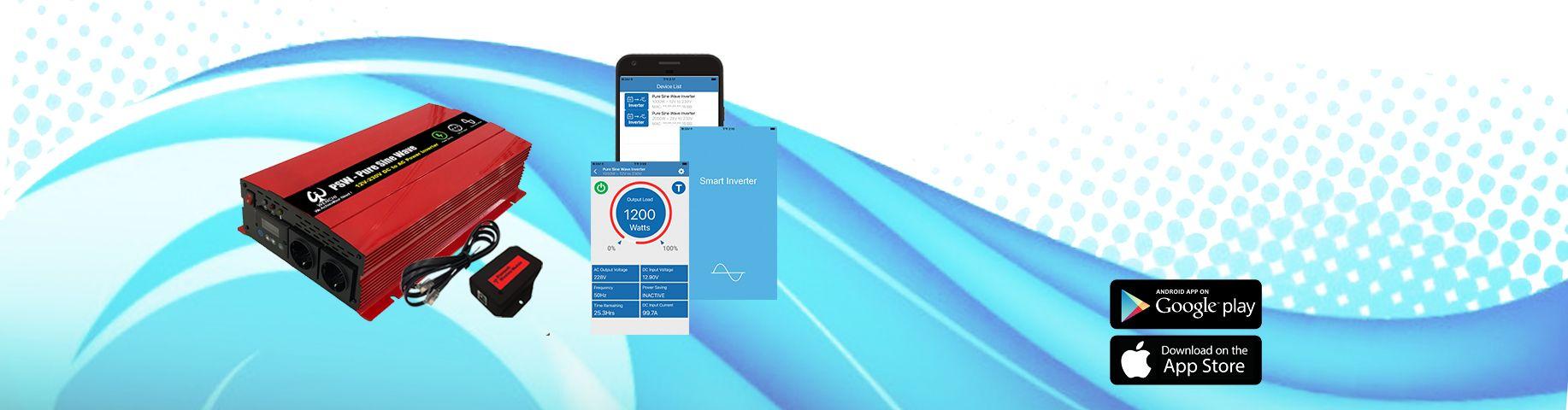 スマートインバーター  APP&Bluetooth接続機能