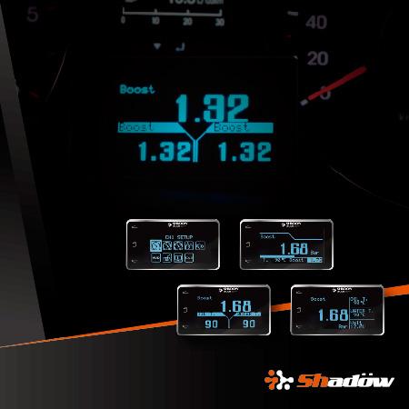 車用電子多功能顯示器可以顯示多種行車數據。