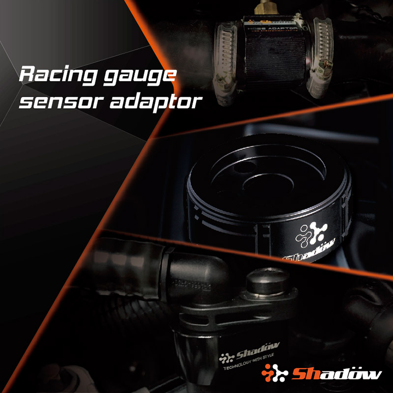 Sensor adaptor is especially for vehicles to install the racing gauge.