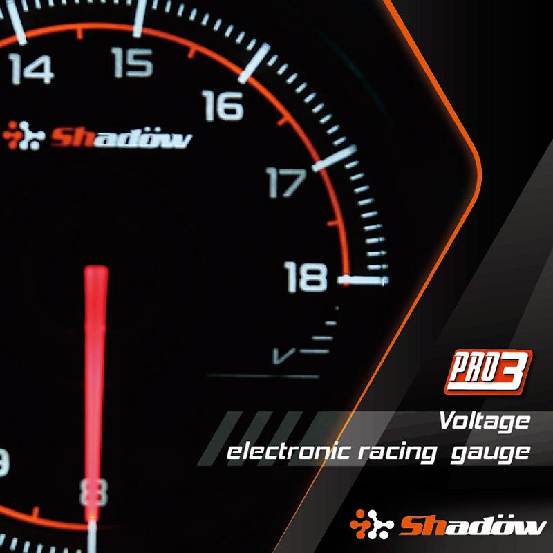 Voltage Electronic Racing Gauge Measurement Range is 8V ~ 18V.