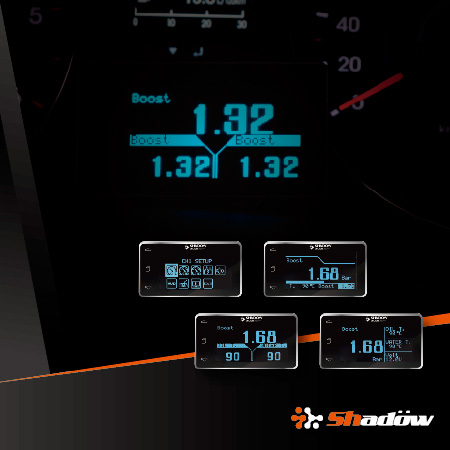 OLED gauge With 2.6 inch large screen and 128 x 64 high resolution.