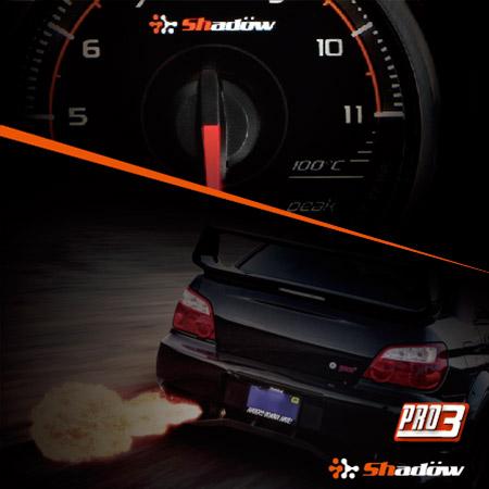 Indicatore temperatura di scarico racing solitamente installato sul downpipe.