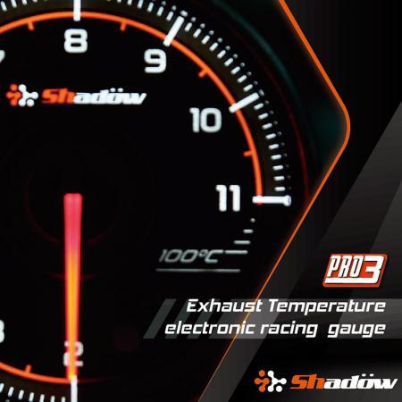 Indicatore da corsa della temperatura del gas di scarico - L'intervallo di misurazione dell'indicatore di temperatura dello scarico da corsa va da 200°C a 1100°C.