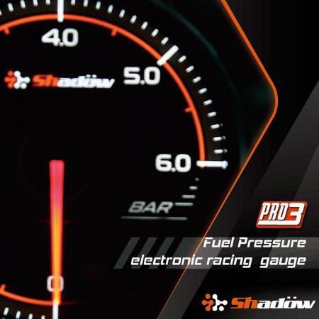 Jauge de course de pression de carburant - La plage de mesure de la jauge de course de pression de carburant est de 0 bar à 6 bar.
