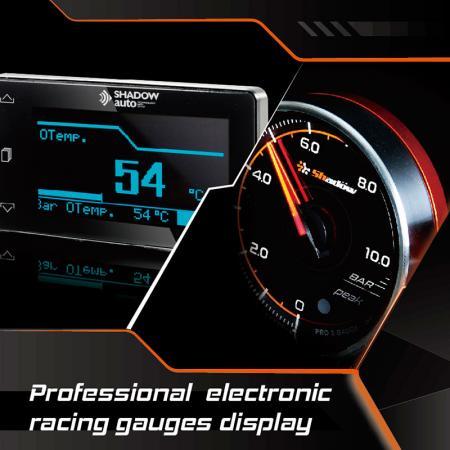 Affichage de jauges de course électroniques professionnelles - Les jauges électroniques professionnelles possèdent le cœur de la rapidité, de la précision et de la délicatesse.