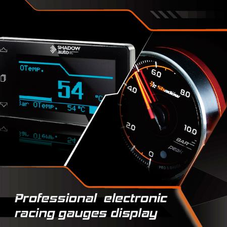 Professional Electronic Racing Gauges Display - Professional electronic gauges own the core of fast, accurate and delicate.