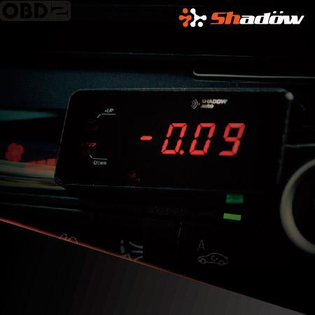 OBD2 digital multi meter metal frame increases the texture feeling.