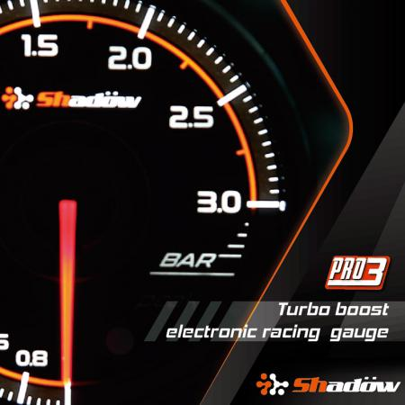 Turbo Boost Racing Gauge - Turbo Boost Racing Gauge Measurement Range is from - 1.0 Bar to 3.0 Bar.