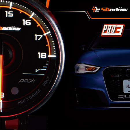 Voltage electronic racing gauge monitor the battery life of vehicle.