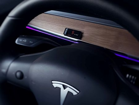 Throttle controller fits in the Tesla
