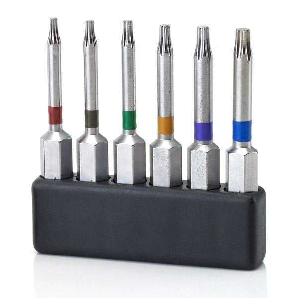 TORX® 50mm Torx Bits für Sloky Drehmomentschraubendreher (Drehmomentschlüssel) und für verschiedene Drehmomentadapter mit entsprechender Farbe. <br />Benutzerfreundlich für CNC-Schneidwerkzeug zum Bearbeiten, Drehen und Fräsen. <br /><br />(TORX® und TORX PLUS® sind beide eingetragene Marken von Acument global technologies LLC.)