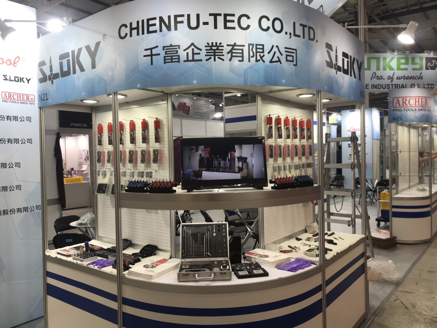 Sloky in Taiwan Hardware Show by Chienfu-Tec, booth #N21