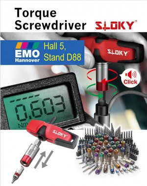 Sloky will be in EMO Hannover 2017 , booth # D90 (Hall 5), 18 – 23 September - Chienfu Sloky in emo 2017Come and check our CNC precision, lathing, milling and turning parts; of course also Sloky Torque screwdriver and wrenches for all different application including Shooting/Hunting, Circuit board, Tire pressure detector, Bicycle, DIY Market, Drum, Lens, 3C devices and Golf Club. User friendly for CNC cutting tools of machining, lathing, turning, and milling parts.