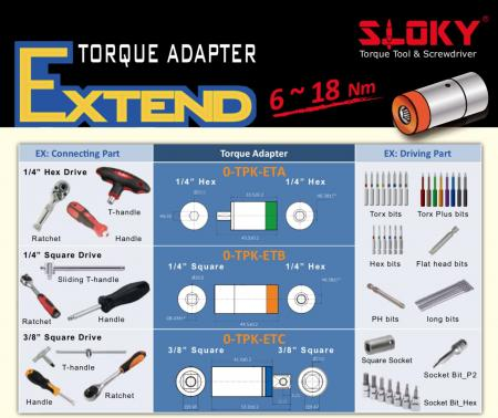 Expend Adapter_tsd12 - torque adapter for big torque from 6~18Nm