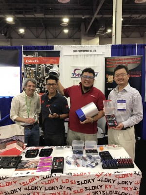 Sloky Chienfu, Acsc and Fix it Sticks all together here in Vegas National Industrial Fastener show , booth 2734!! Come and let's Vegas!! - Sloky Torque Screwdriver in National industrial fastener Show from 25-27 of Oct http://www.fastenershows.com/ Come and check our CNC precision, lathing, milling and turning parts; of course also Sloky Torque screwdriver and wrenches for all different application including Shooting/Hunting, Circuit board, Tire pressure detector, Bicycle, DIY Market, Drum, Lens, 3C devices and Golf Club. User friendly for CNC cutting tools of machining, lathing, turning, and milling parts.