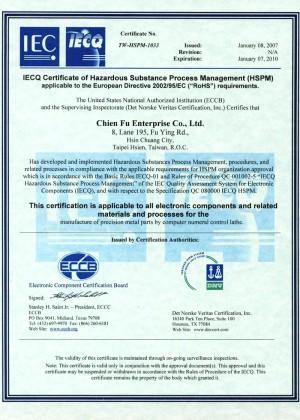 Chienfu IECQ-Zertifikat
