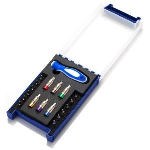 Dual Kit Drehmomentschraubendreher - Dual Kit Sloky Drehmomentschraubendreher mit Bits von Hex, Torx und Torx Plus für verschiedene Nm Drehmomentadapter. <br />Benutzerfreundlich für CNC-Schneidwerkzeug zum Bearbeiten, Drehen und Fräsen.
