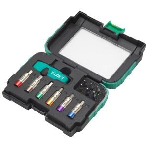 Smart Kit II Drehmomentschraubendreher - Smart Kit II Sloky Drehmomentschraubendreher mit Bits von Hex, Torx und Torx Plus für verschiedene Nm Drehmomentadapter. Benutzerfreundlich für CNC-Schneidwerkzeug zum Bearbeiten, Drehen und Fräsen.