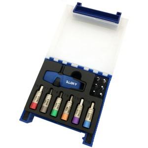 TSD-01-IP Sloky Drehmomentschraubendreher mit blauer Farbidentität; leicht zu unterscheiden von TX rot für die Anwendung bei CNC-Bearbeitungseinsätzen