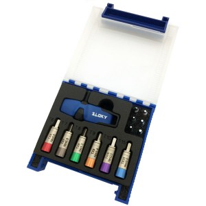 TSD-01-IP Sloky Drehmomentschraubendreher mit blauer Farbidentität; leicht zu unterscheiden von TX rot für CNC-Bearbeitungseinsätze