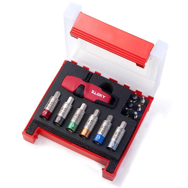 Smart Kit Sloky Drehmomentschraubendreher mit Bits von Hex, Torx und Torx Plus für verschiedene Nm Drehmomentadapter. Benutzerfreundlich für CNC-Schneidwerkzeug zum Bearbeiten, Drehen und Fräsen.