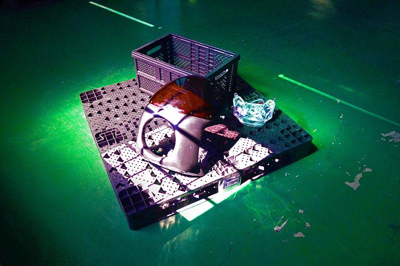 Vouwcontainer, kunststof pallet geproduceerd door Kuan Mei Tech.
