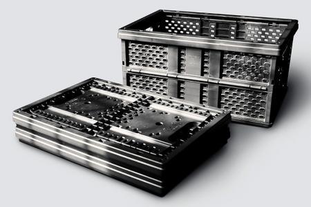 塑膠摺疊籃