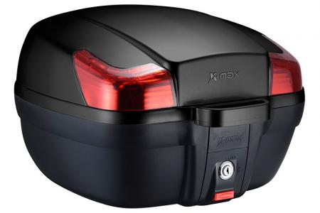 K-MAX K11 Motorcycle Top Case - 28 Liters top case, with multiple colors to select.