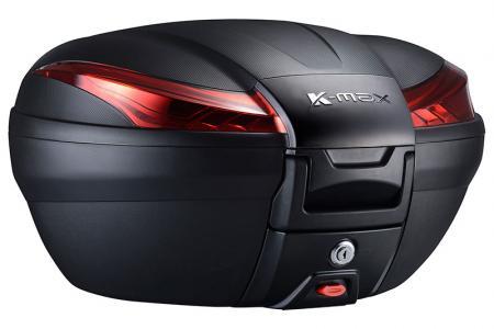 Baúl de moto K-MAX K27 - Estuche superior de gran capacidad de 50 litros.