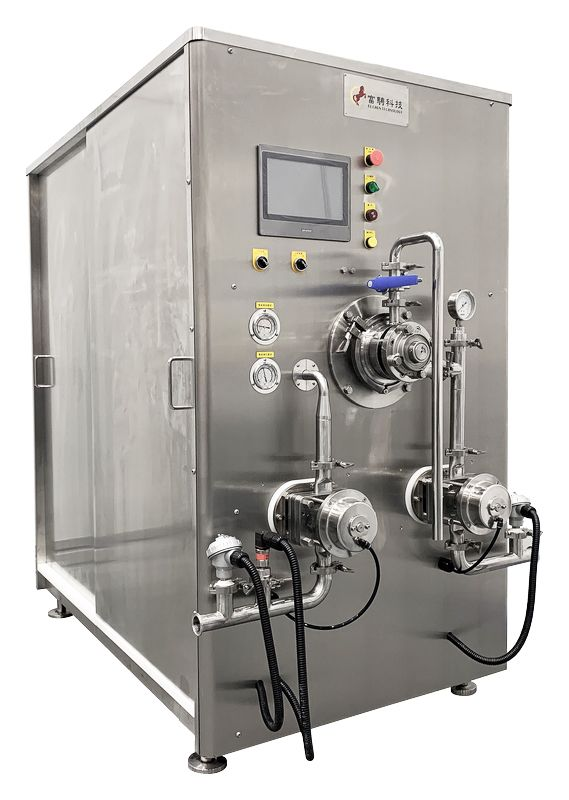 Ice Cream Freezer - Continuous - Continuous freezer ICF 400 with twin rotary lobe pumps and touchscreen.