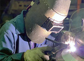 Stainless steel welding in the workshop