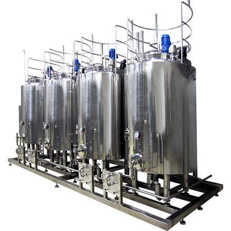 Tanques de envejecimiento - Tanques de enfriamiento para mezcla de helado - Depósitos de crianza para la maduración de la mezcla de helado.