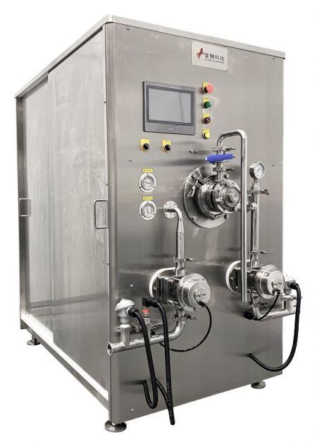 Congelador de helados - continuo - Congelador continuo ICF 400 con bombas de doble lóbulo rotativo y pantalla táctil.
