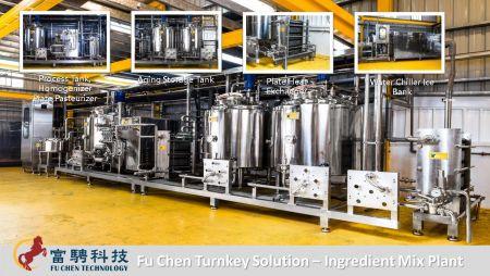 Procesamiento de alimentos - Planta de procesamiento de alimentos líquidos