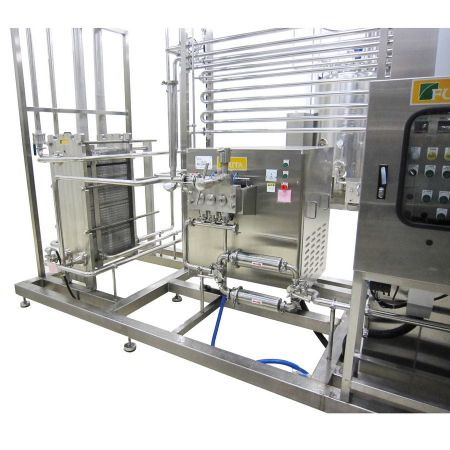 HTST Pasteurizers - HTST pasteurization system with plate & frame heat exchanger.