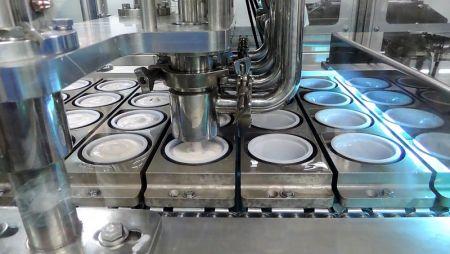 Llenadora de vasos / tinas ultralimpias + pasteurización UV
