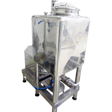 Chất hóa lỏng - Máy hóa lỏng có bình hình vuông và dưới đáy có gắn cánh quạt tốc độ cao.