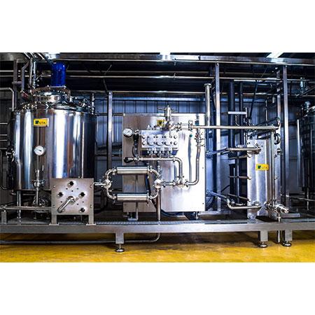 Planta de mezcla por lotes de helados - Planta de pasteurización discontinua para la producción industrial de helados.