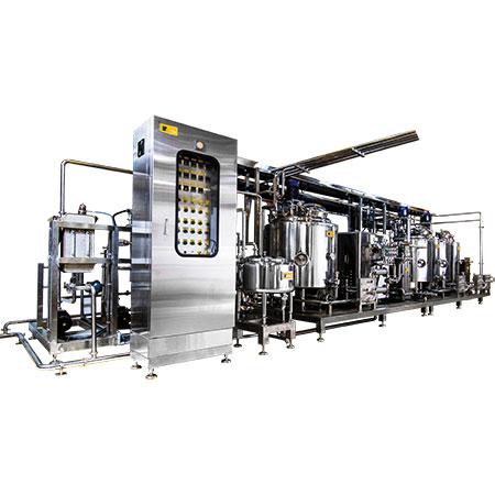 Planta de mezcla de helados HTST - Planta de pasteurización HTST para la producción industrial de helados.