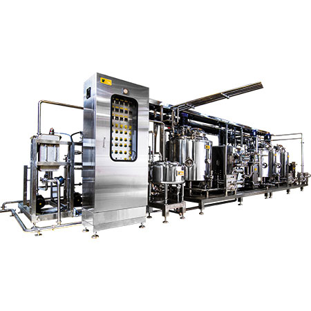 Ice Cream HTST Mix Plant - HTST pasteurization plant for industrial ice-cream production.